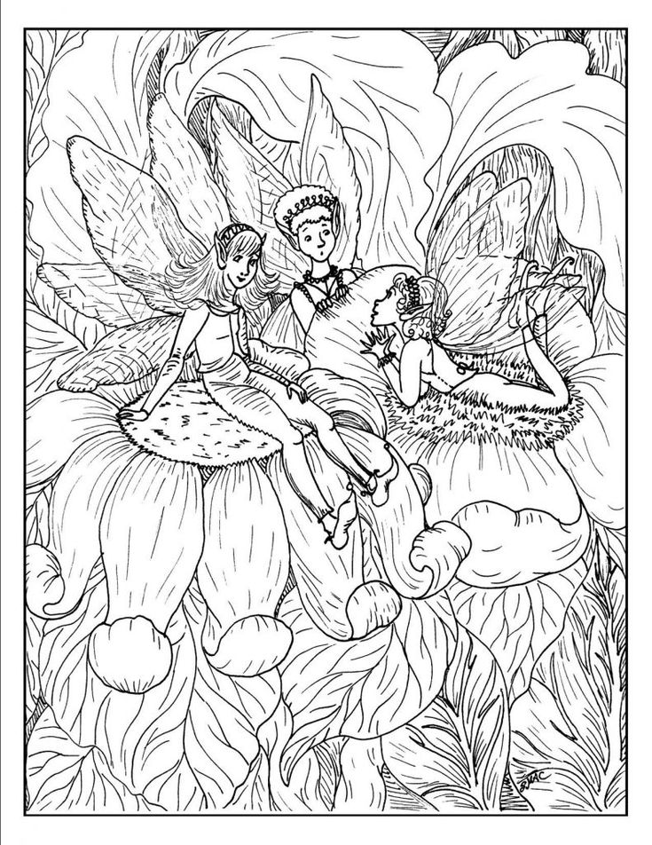 already colored Fairy Coloring Pages for Adults - Best Coloring Pages For Ki... easy