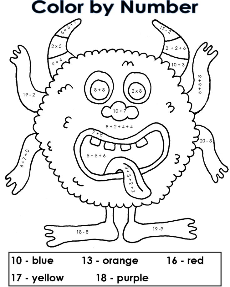 to print out Free Printable Color by Number Coloring Pages - Best Colorin... free printable