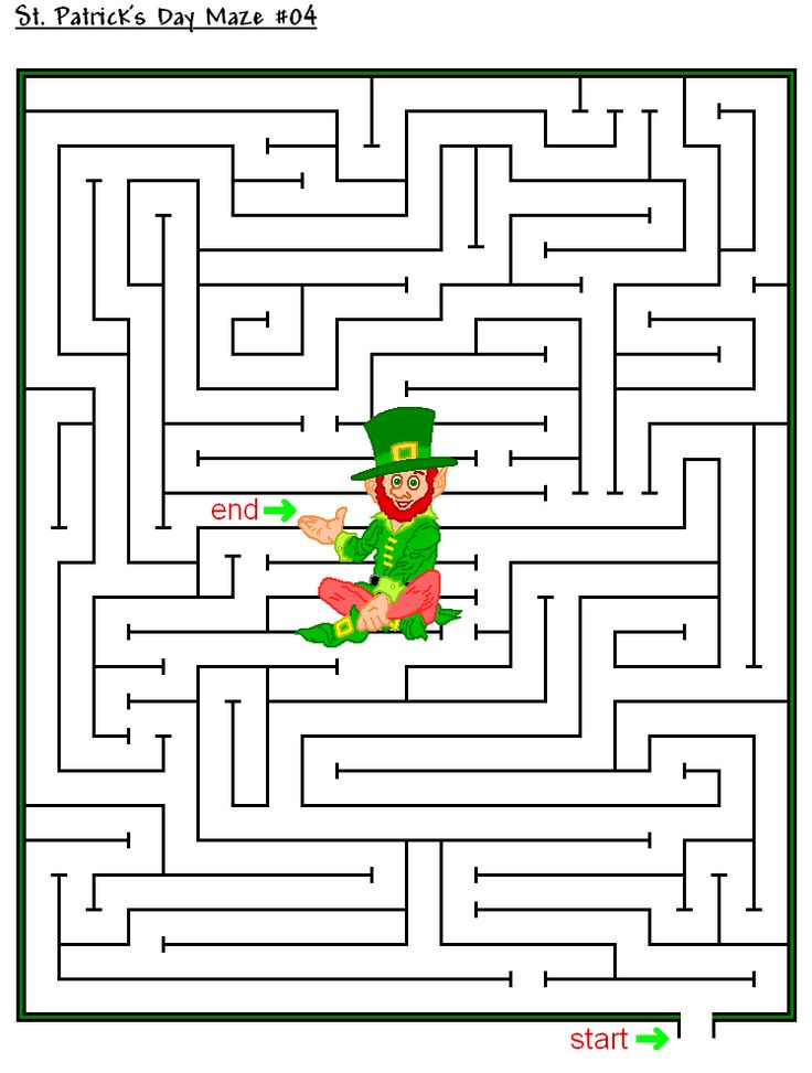 for toddlers St Patricks Day Puzzles - Best Coloring Pages For Kids for toddlers