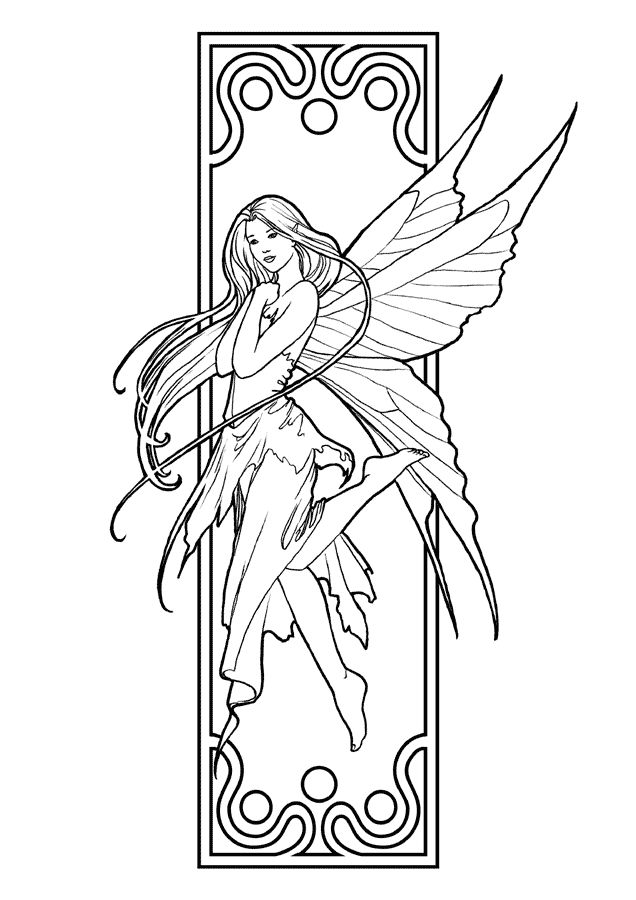 already colored Fairy Coloring Pages for Adults - Best Coloring Pages For Ki... for kindergarten
