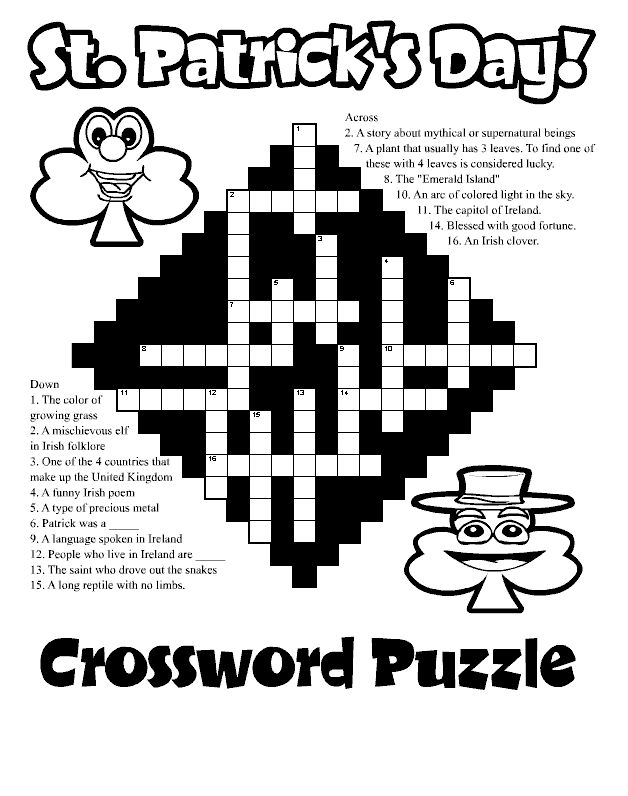 to print out St Patricks Day Puzzles - Best Coloring Pages For Kids to print out