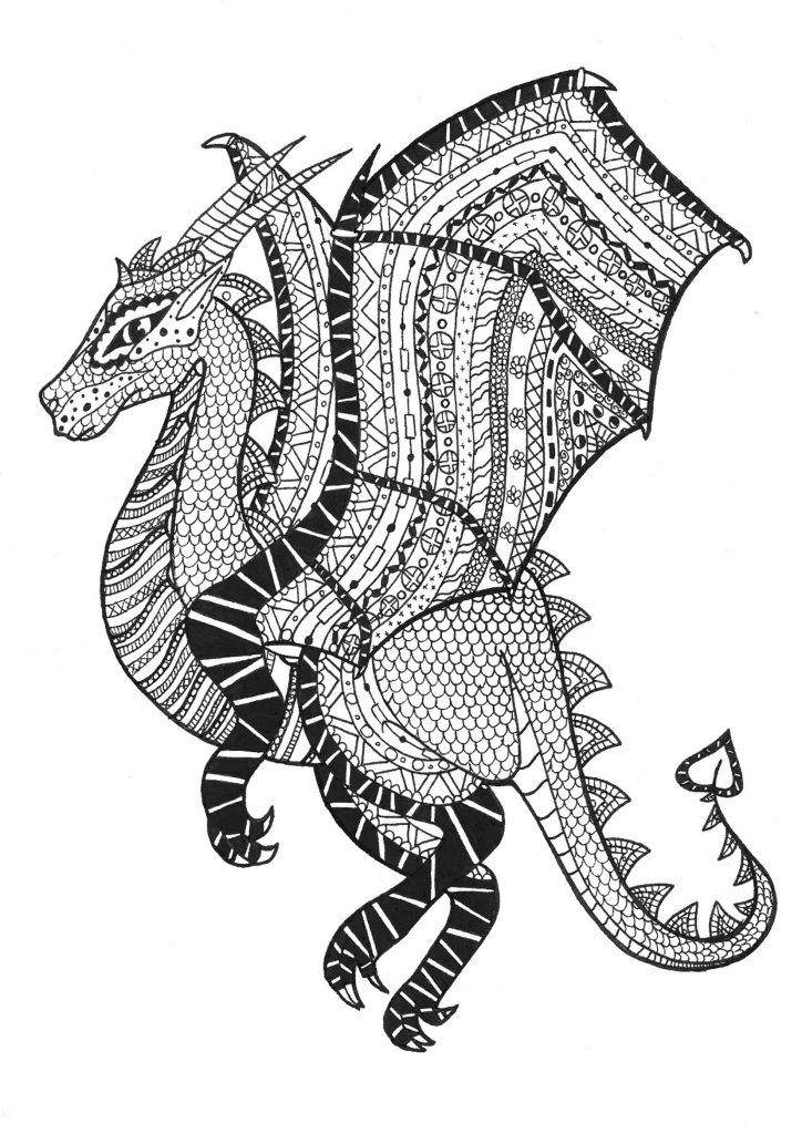 preschool Dragon Coloring Pages for Adults - Best Coloring Pages For K... for boys