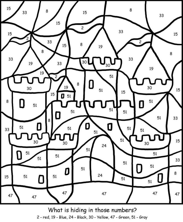 for kids Free Printable Color by Number Coloring Pages - Best Colorin... preschool