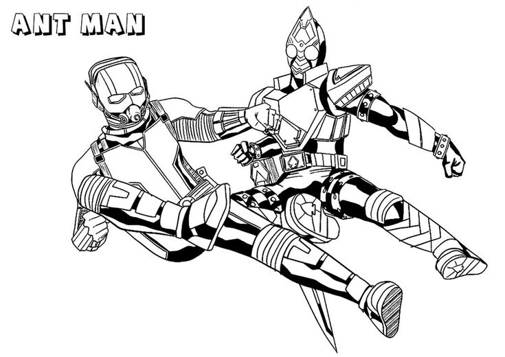 already colored Ant Man Coloring Pages - Best Coloring Pages For Kids for sunday school