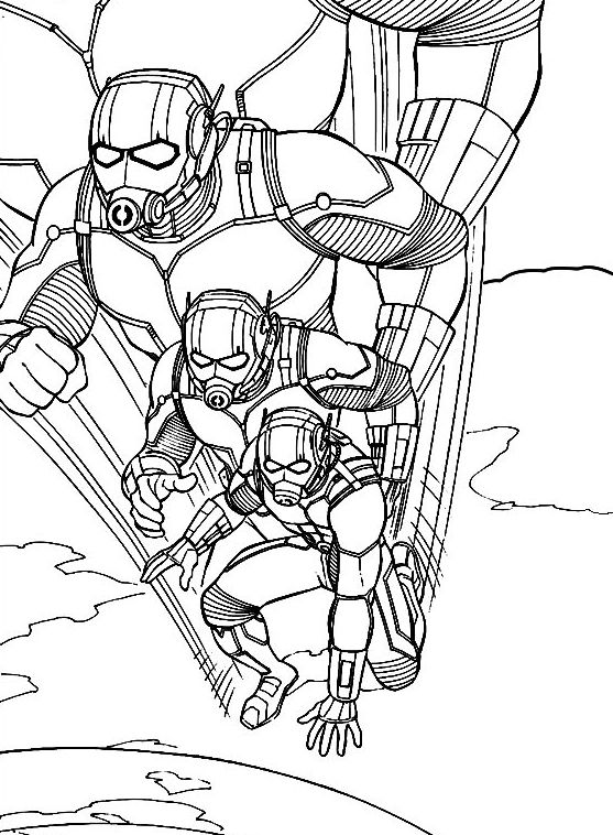 Already Colored Ant Man Coloring Pages Best Coloring