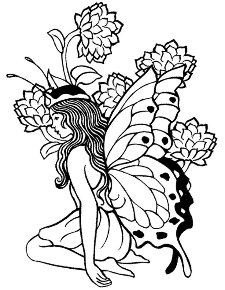 simple Fairy Coloring Pages for Adults - Best Coloring Pages For Ki... preschool
