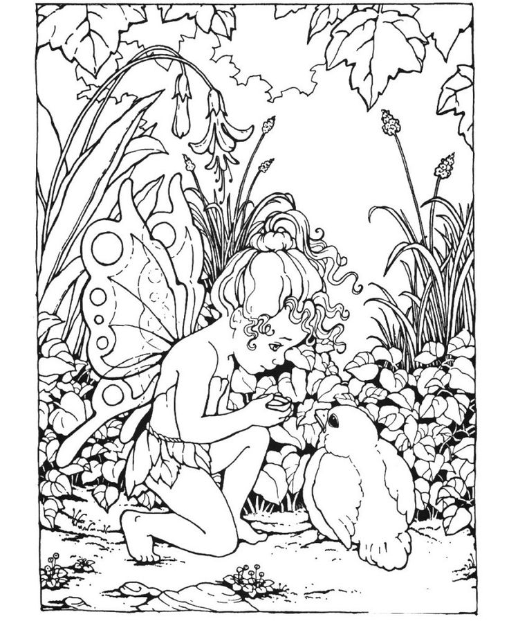 toddler Fairy Coloring Pages for Adults - Best Coloring Pages For Ki... for kids