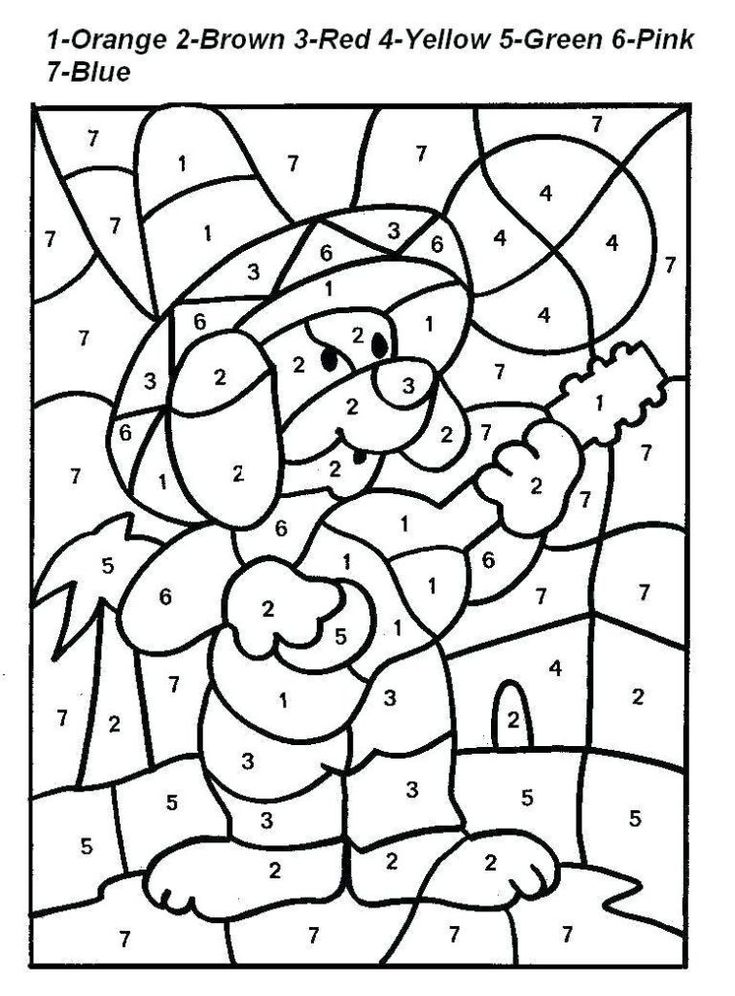for boys Free Printable Color by Number Coloring Pages - Best Colorin... online