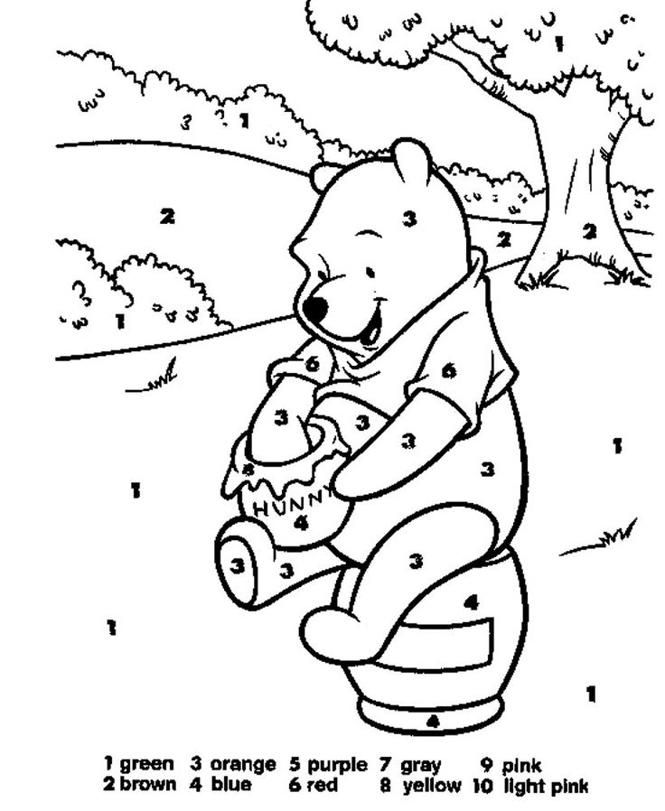 for adults Free Printable Color by Number Coloring Pages - Best Colorin... for toddlers