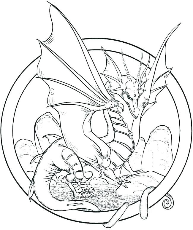 for toddlers Dragon Coloring Pages for Adults - Best Coloring Pages For K... preschool