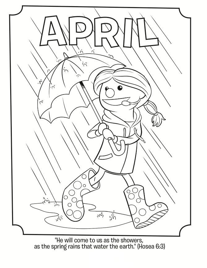 printable April is the season of SPRING, spring rains, new growth and ... for adults