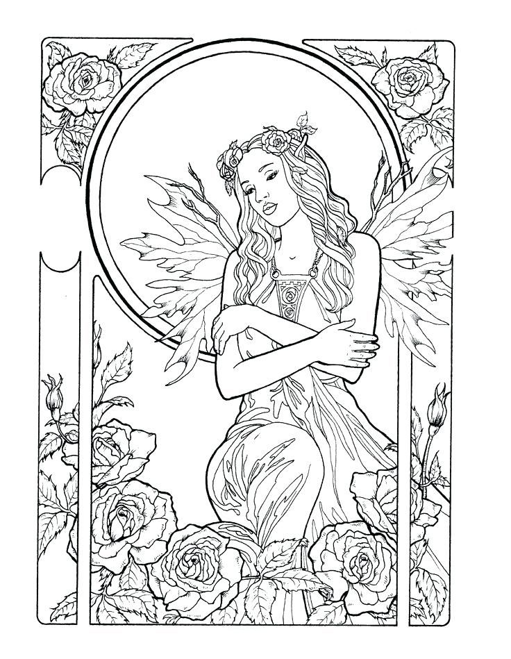 already colored Fairy Coloring Pages for Adults - Best Coloring Pages For Ki... for girls