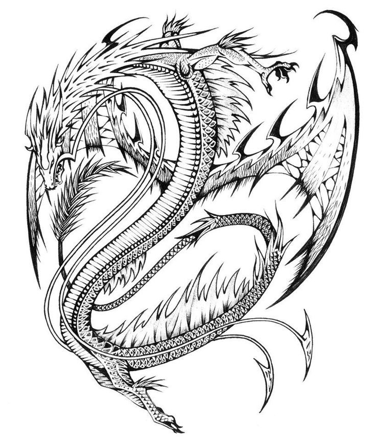printable Dragon Coloring Pages for Adults - Best Coloring Pages For K... for adults
