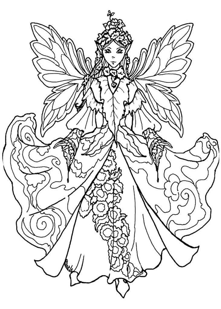 for teens Fairy Coloring Pages for Adults - Best Coloring Pages For Ki... preschool
