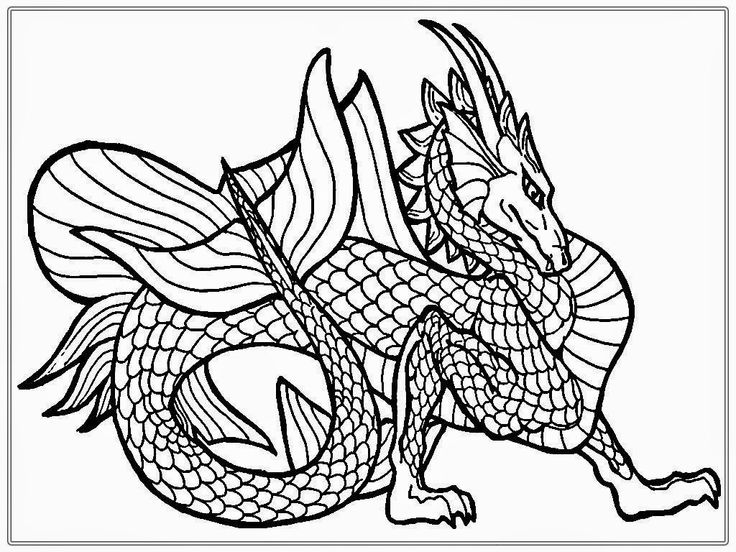 for sunday school Dragon Coloring Pages for Adults - Best Coloring Pages For K... printable