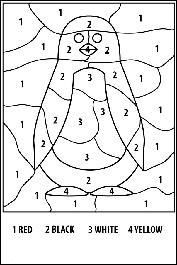 for teens Free Printable Color by Number Coloring Pages - Best Colorin... for adults