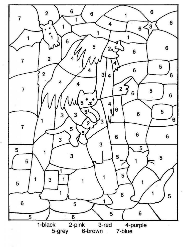 free Free Printable Color by Number Coloring Pages - Best Colorin... free printable