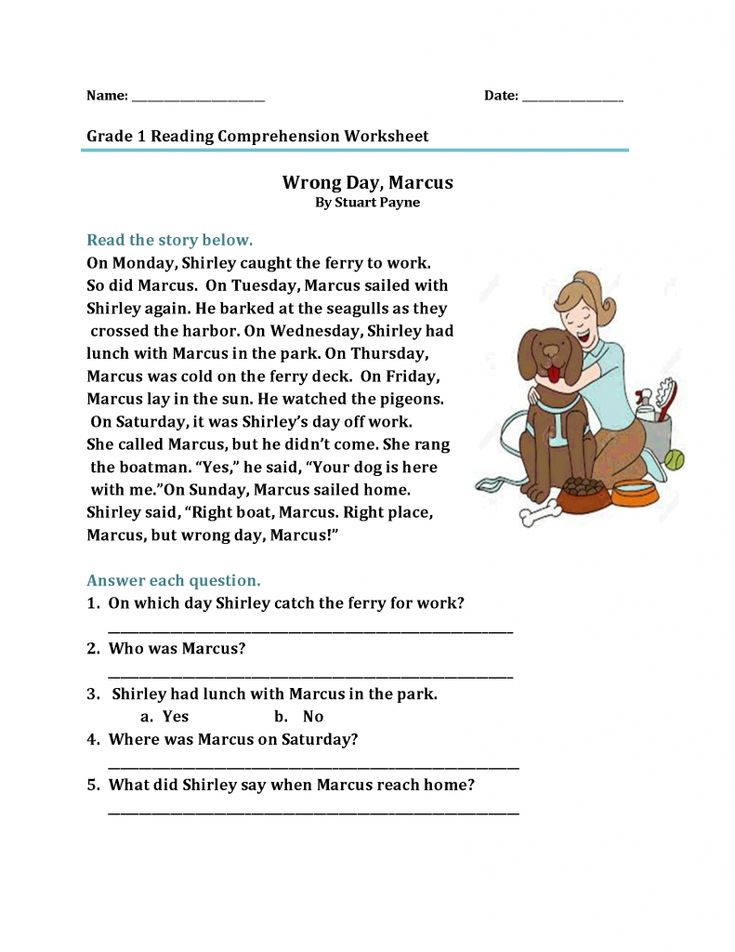 for adults 1st Grade Reading Worksheets can help your kids get off to a... for girls