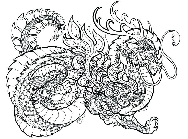 for teens Dragon Coloring Pages for Adults - Best Coloring Pages For K... for kids