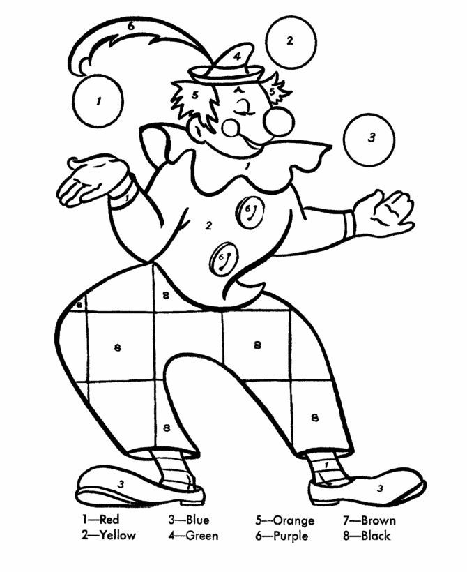 for adults Free Printable Color by Number Coloring Pages - Best Colorin... for teens