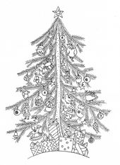 Christmas Tree Coloring Pages for All Ages
