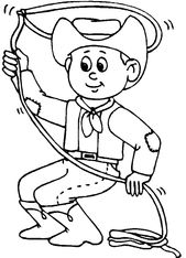 Cowboy Coloring Activities Printable for Boys | Learning Printable