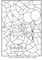 Free Color by Number Math | 101 Coloring