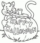 Free Online Halloween Coloring Pages | Learning Printable