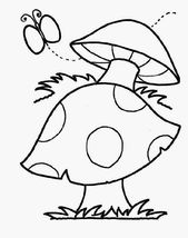 Printable Mushrooms Pictures to Color | Learning Printable