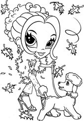 Fashion Girl Coloring Pages to Color Online | Learning Printable