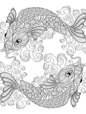 The Fish Coloring Book for Adults   Learning Printable