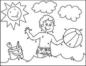 Preschool Summer Coloring Pages | Learning Printable