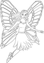 Fairy Coloring Print Out for Kids | Learning Printable
