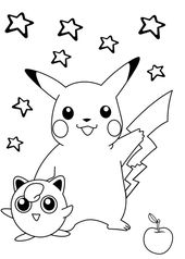 Pikachu Pokemon Coloring Print Out for Kids | Learning Printable