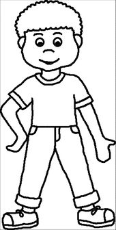 The Boy Coloring Book for Children | Learning Printable