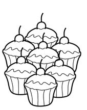 Free Cupcakes Coloring Sheets | Learning Printable