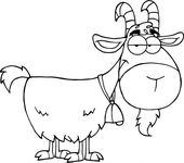 Online Goat Coloring for Kids | Learning Printable
