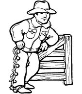 Free Children's Coloring Sheets Cowboy | Learning Printable