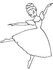 Free Ballerina Coloring Pictures to Print | Learning Printable