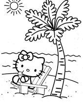 Summer Hello Kitty Coloring Book Pages | Learning Printable