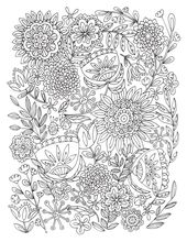 Flower Coloring Activities Printable for Adults | Learning Printable