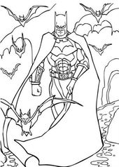Batman Drawing Coloring Pages for Halloween | Learning Printable