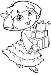 Free Dora the Explorer Coloring Pages to Print Out   Learning Printable