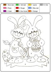 Free Printable Easter Color by Numbers for Kids | Learning Printable
