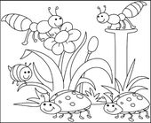 Free Spring Children's Coloring Sheets   Learning Printable