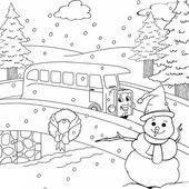 Printable Winter Coloring Activities for Kids | Learning Printable