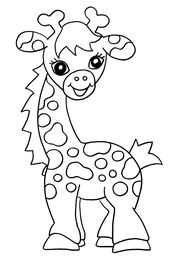 Free Coloring Sheets for Kids Giraffe | Learning Printable