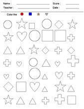 Shapes Coloring Worksheets for Kids | Learning Printable