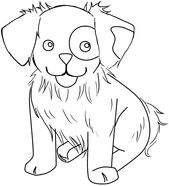 Free Online Dog Coloring Pages   Learning Printable