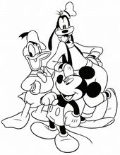 Printing Pages for Kids Coloring - Donald Duck, Mickey, Goofy   Learning Printab...